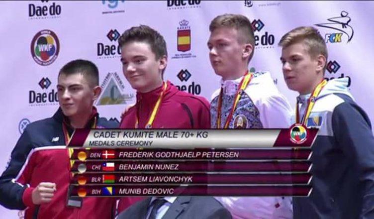Benjamín Nuñez gana medalla de plata en el Mundial Cadete de Karate