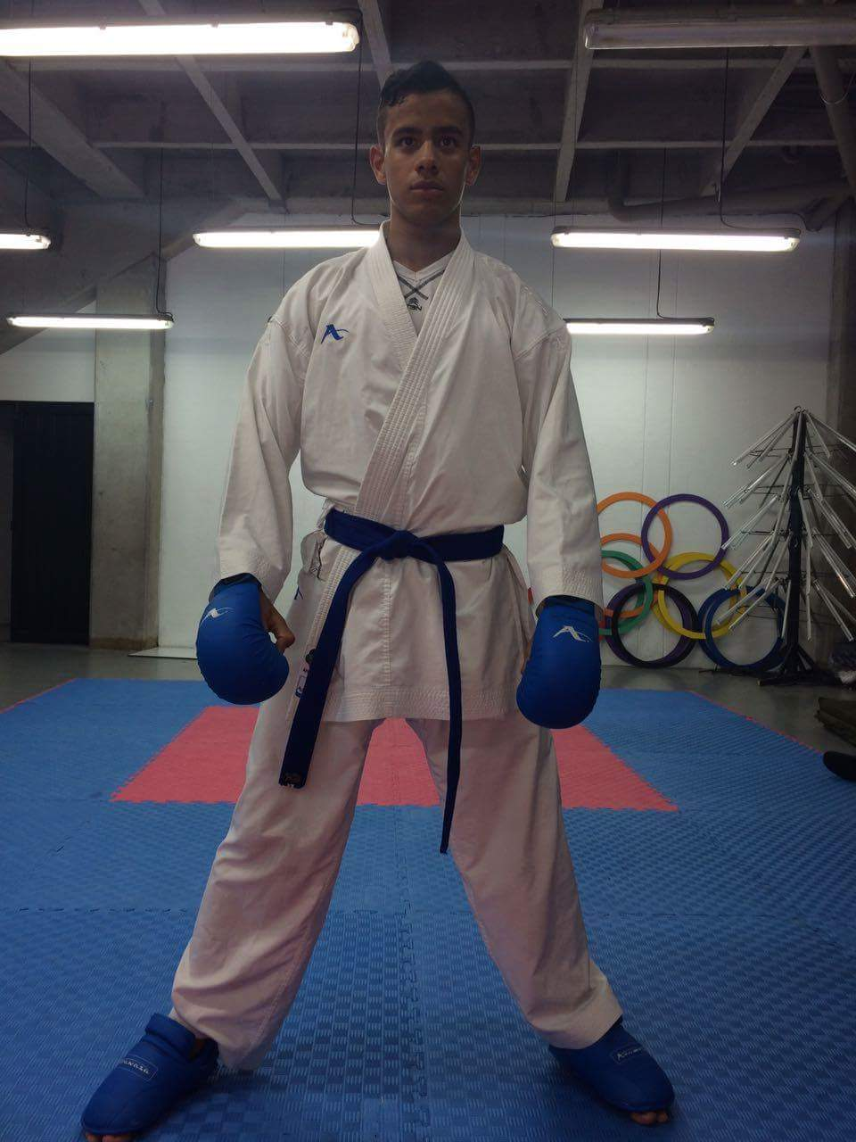 Diego Alejandro Garro, joven promesa del karate