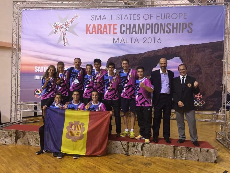 La Federación Andorrana de Karate en el Campeonato del Mundo Cadete, Junior y Sub 21 en Tenerife (España)