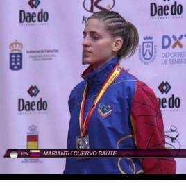 Las karatekas Marianth Cuervo y Alexandra García destacan en mundial de Santa Cruz de Tenerife