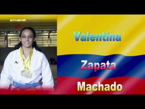 Valentina Zapata mejor latinoamericana, en el comienzo del Mundial Juvenil de Karate