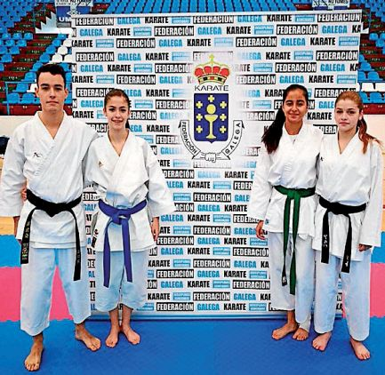 Cuatro deportistas del Akai Ryu de Negreira estarán con la selección gallega