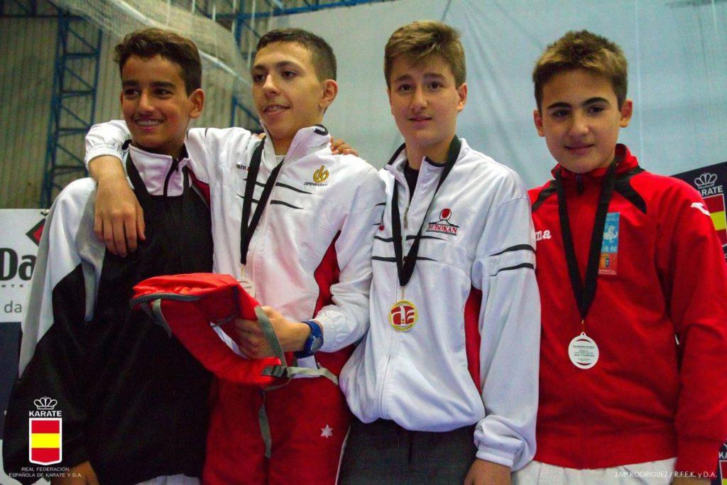 Alonso Ortega, Bronce en la Liga Nacional Infantil de Karate