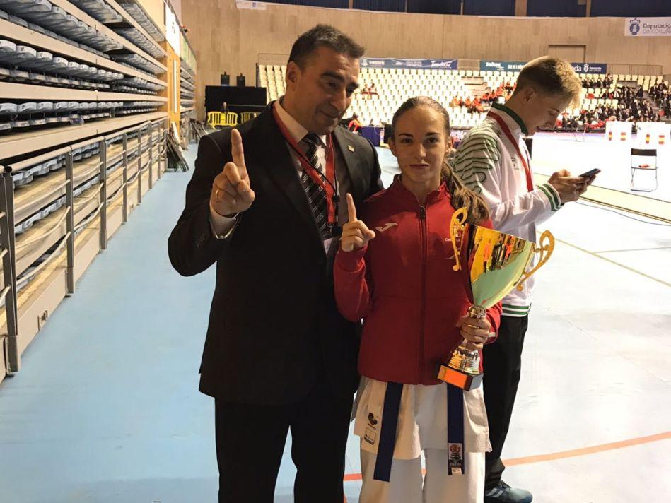 Nidia García ya es tricampeona de España de karate