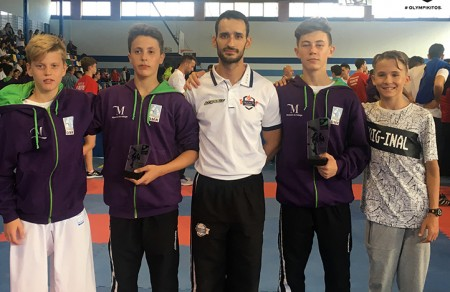 Sabrina Medero y Diego Ponce de Olympic Karate logran un segundo y tercer puesto en el Campeonato de España