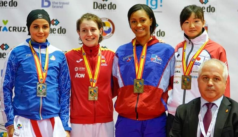 Terrero, bronce Mundial Karate