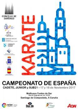 Cuatro integrantes del Kárate-Do Carballo, al nacional de Santiago