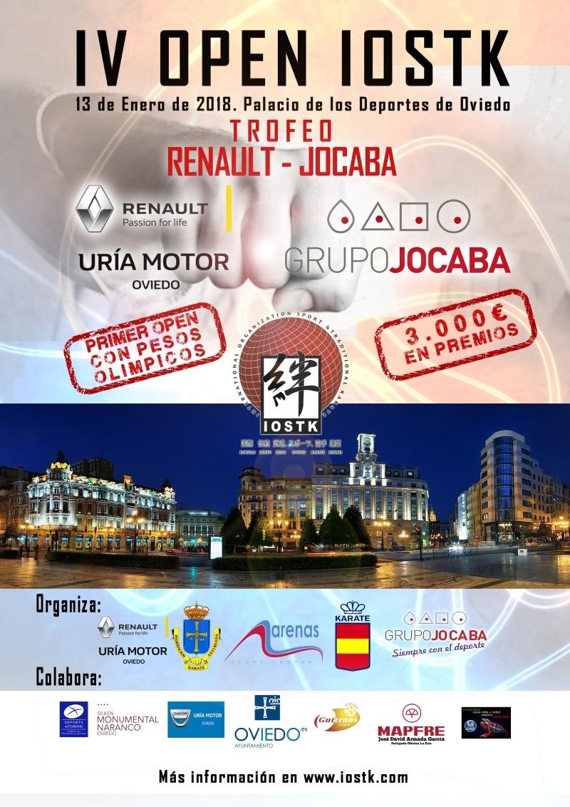 El IV Open IOSTK de Kárate congregará en Oviedo a 50 clubes de todo el mundo