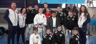 Numerosas medallas para los karatecas de Alzira
