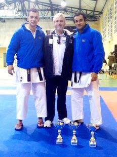 Tres podios en karate del Gimnasio Zeus en Extremadura