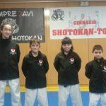 Cuatro deportistas del Shotokan Tora acuden a un torneo solidario en Toledo