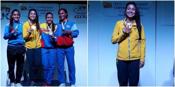Stella Urango ganó oro en el Campeonato Centroamericano y del Caribe de Karate Do