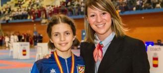 La karateca ibicenca Alejandra Fuertes se proclama campeona de España en categoría juvenil