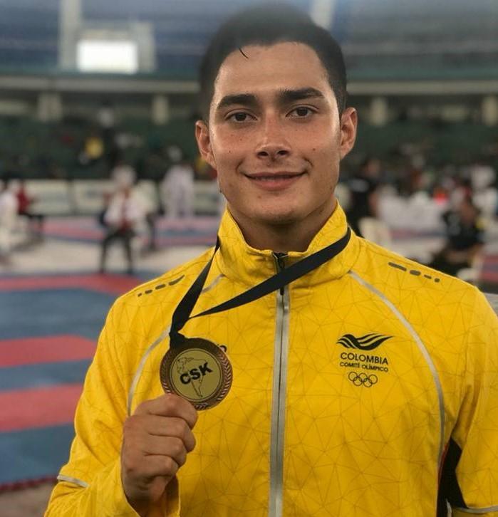 Luis Felipe Aguilar, bronce en el Suramericano de Karate Do en Guayaquil