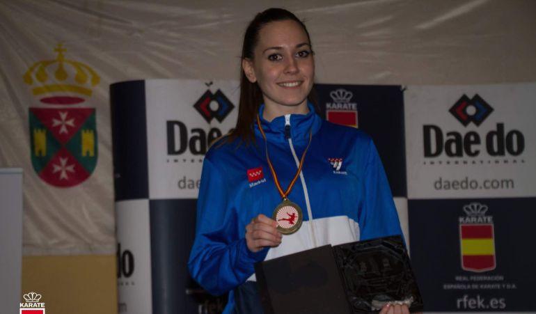 La karateca mostoleña, Sheila Jorge Arribas, revalida el título de campeona de España