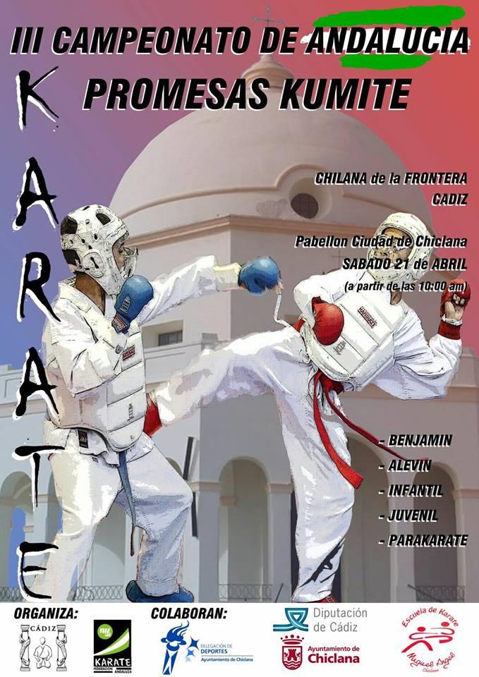 Un campeonato de karate traerá hasta Chiclana a más de 300 participantes