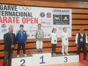 Dos salobreñeras se traen tres medallas del Open Internacional de Kárate del Algarve