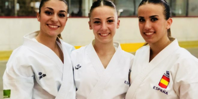 El equipo femenino español de kata se cuelga la medalla de plata
