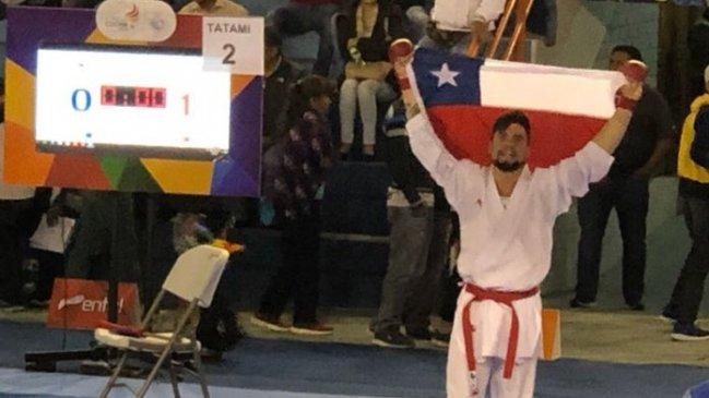 Rodrigo Rojas logró oro en karate y clasificó a los Panamericanos