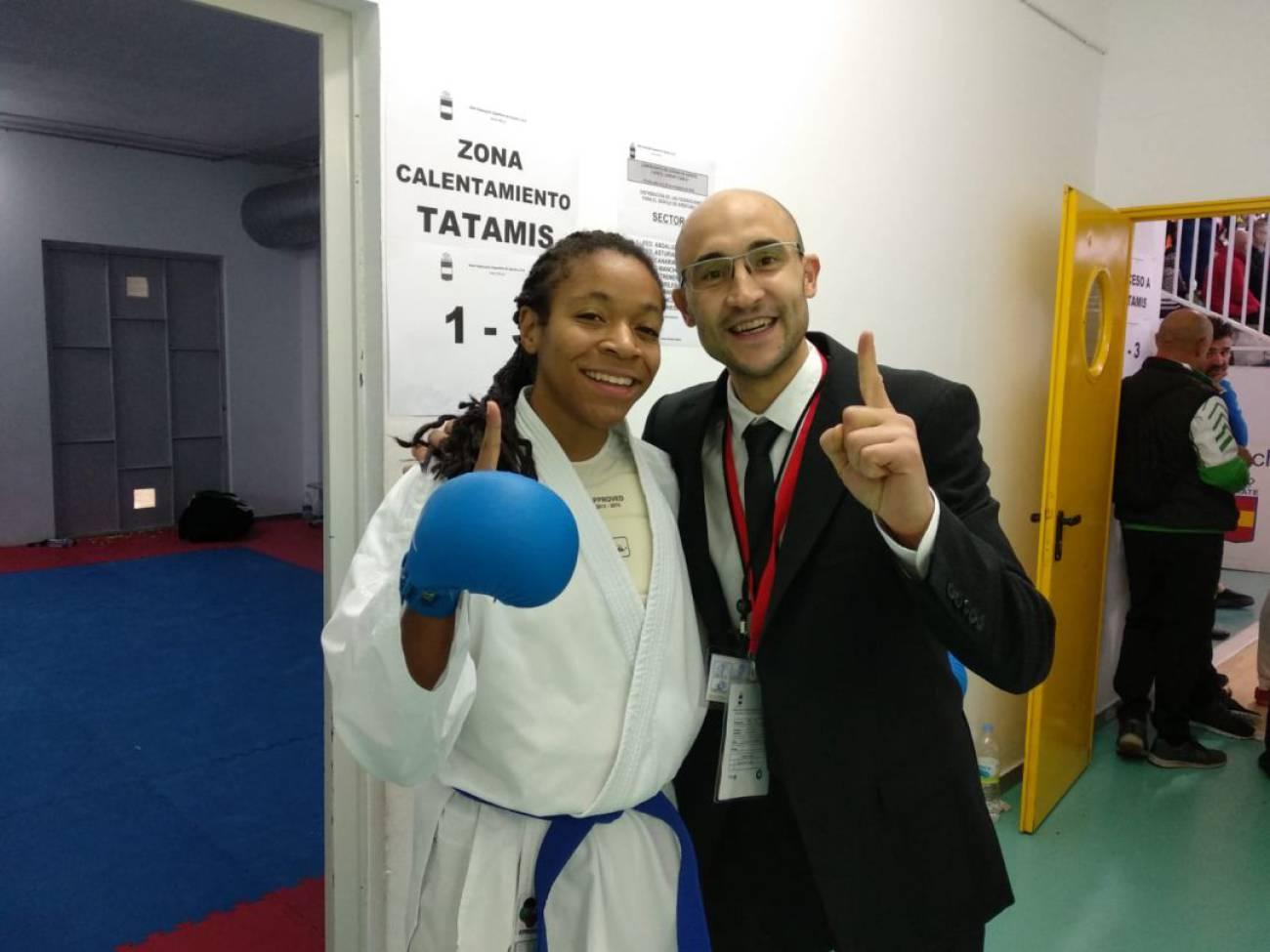 La palentina María Isabel Nieto Mejías, campeona de España de karate