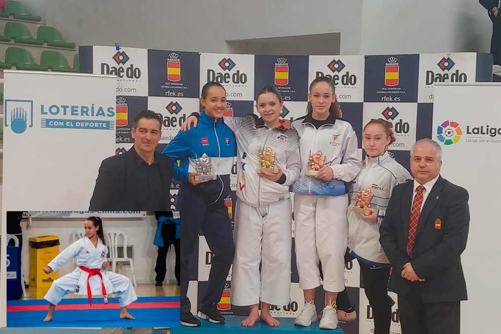 Nerea Cifuentes, del Club Víctor Pradera de Leganés, subcampeona de España de kárate