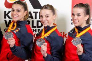 La aragonesa Raquel Roy, subcampeona mundial en kata por equipos