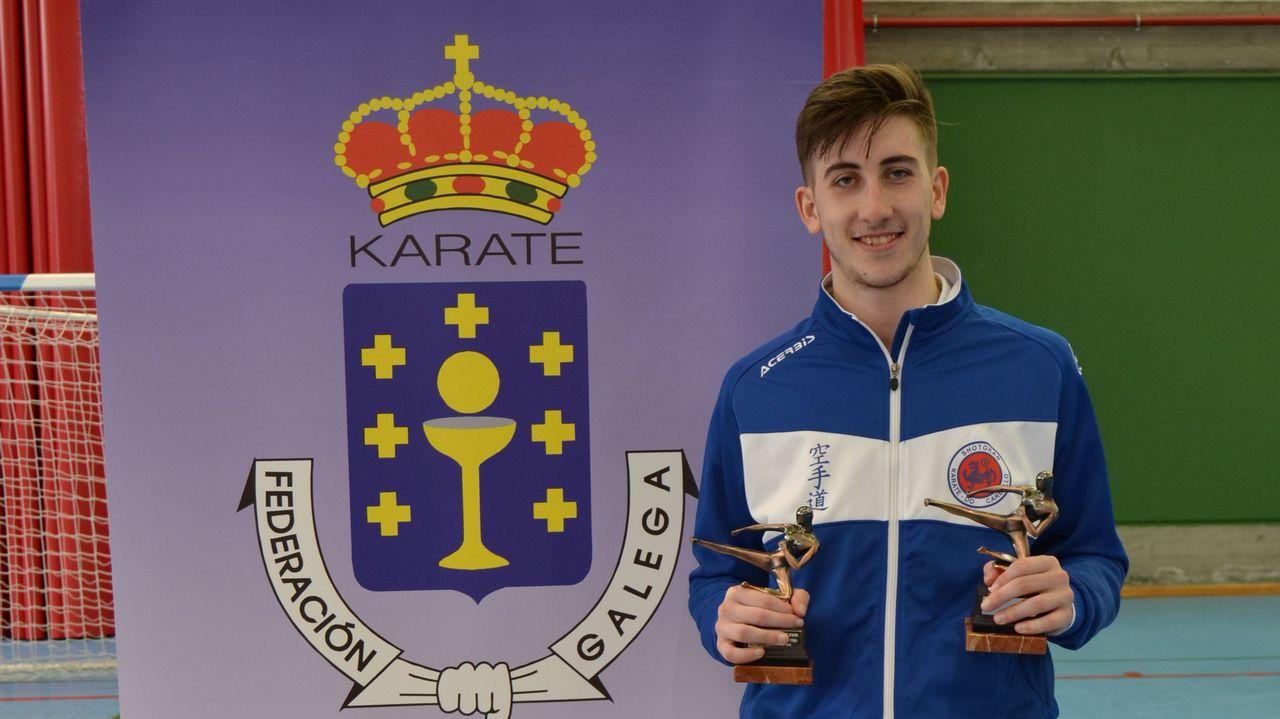 Alejandro Felpeto gana en As Pontes dos títulos gallegos de karate karate