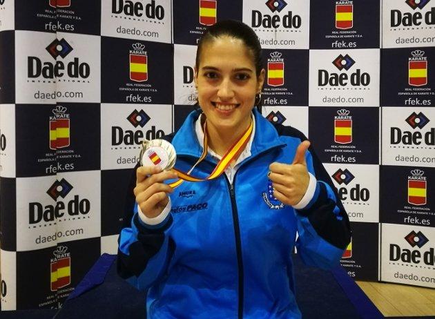 Ruth Lorenzo Couso, subcampeona de España de kárate en -55 kilos