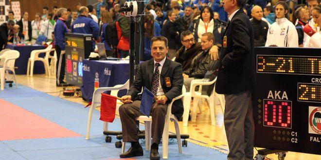 La federación regional de kárate reconoce a José Alonso Sobrino como mejor árbitro