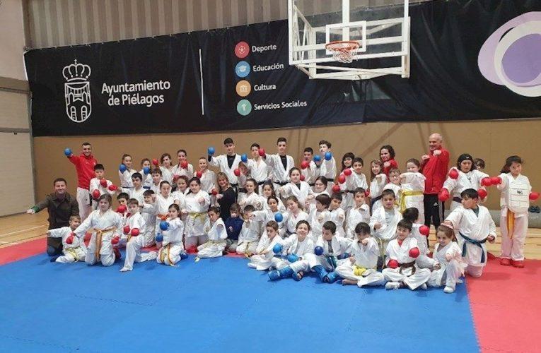 Más de 60 niños participan en el I Campus Abierto de la escuela municipal de kárate