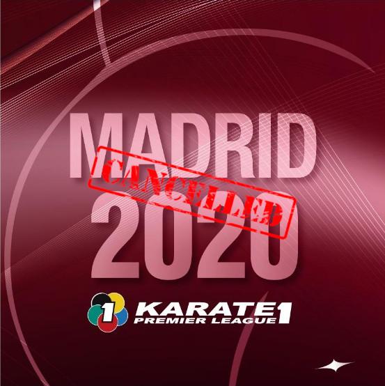 Se cancela la Premier League de karate de Madrid por el coronavirus